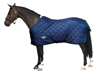 "Weatherbeeta Wave Quilt 300g Stable Blanket, Navy/Hunter, 48"" - 69"""
