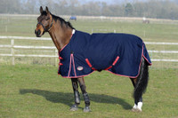 "Weatherbeeta Original 1200D Lite Turnout Sheet, Navy/Red/White, 54"" - 69"""
