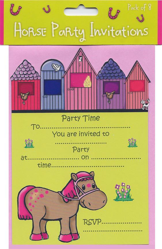 party supplies horse party invitations image 1 image 1 - Horse Party Invitations
