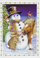 Snowman's Nose Christmas Cards, Pack of 10