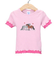 Toddler Double Ruffle Tee, Pink