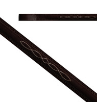 Regal Fancy Stitched Browband, Havana, Four Sizes