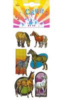 Rainbow Metallic Horse Stickers