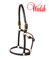 Walsh Sportsman Leather Halter with Adujstable Nose, Havana