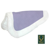 Wilkers Quilted Back Half Pad, White with Lavender