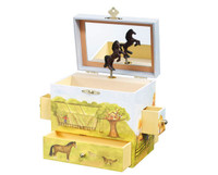 Horse Ranch Musical Treasure Box  sc 1 st  Just for Ponies & Equestrian Jewelry Boxes Aboutintivar.Com