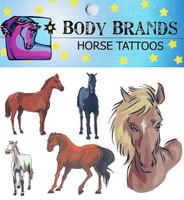 Body Brands Temporary Horse Tattoos