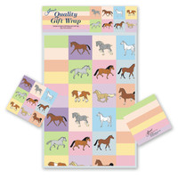 Pastel Horses Gift Wrap with Tags