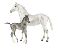 Breyer Classics Grey Thoroughbred Mare & Foal Gift Set