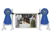 Blue Ribbon Champion Frame from Model Horse Jumps