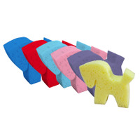 Pony Shaped Grooming Sponges - Set of 6