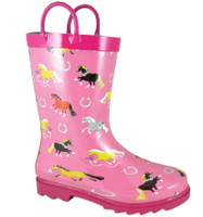 Smoky Mountain Kids Show Ponies Pink Rubber Boots