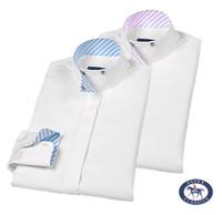 Essex Classics 'Loretto' Wrap Collar Shirt, White, Sizes 8, 10 & 14 Only