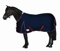 "Weatherbeeta 1200D Medium Turnout, Navy/Red/White, 54"" Only"