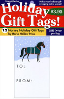 'Snowy Paddock' Holiday Gift Tags, Pack of 12