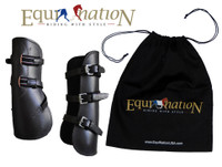 EquiNation Open Front Leather Boots - Three Pony Sizes