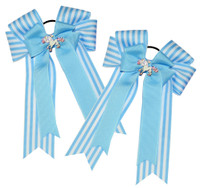 Belle & Bow Show Bows, Blue Pacific