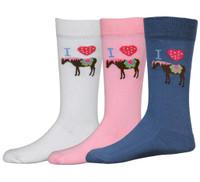 TuffRider I Heart Pony Socks, 3 Pack
