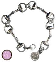Kathryn Lily Silver Bit Bracelet