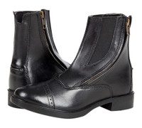 Daisy Clipper Side Zip Leather Paddock Boots, Black