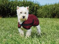 """Weatherbeeta Fleece Lined Windbreaker Do g Coat, Ruby/Black, 12"""" - 28"""""""