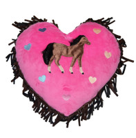 Carstens  Hot Pink Horse Heart PIllow