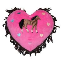 Carstens  Hot Pink Horse Heart PIllow