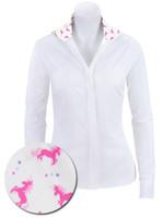 RJ Classics Prestige Prix Jr Shirt - White with Pink Unicorns, Sizes 4 & 8 Only