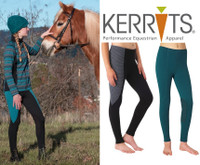Kerrits Kids Performance Tight, Arctic & Pewter Houndstooth