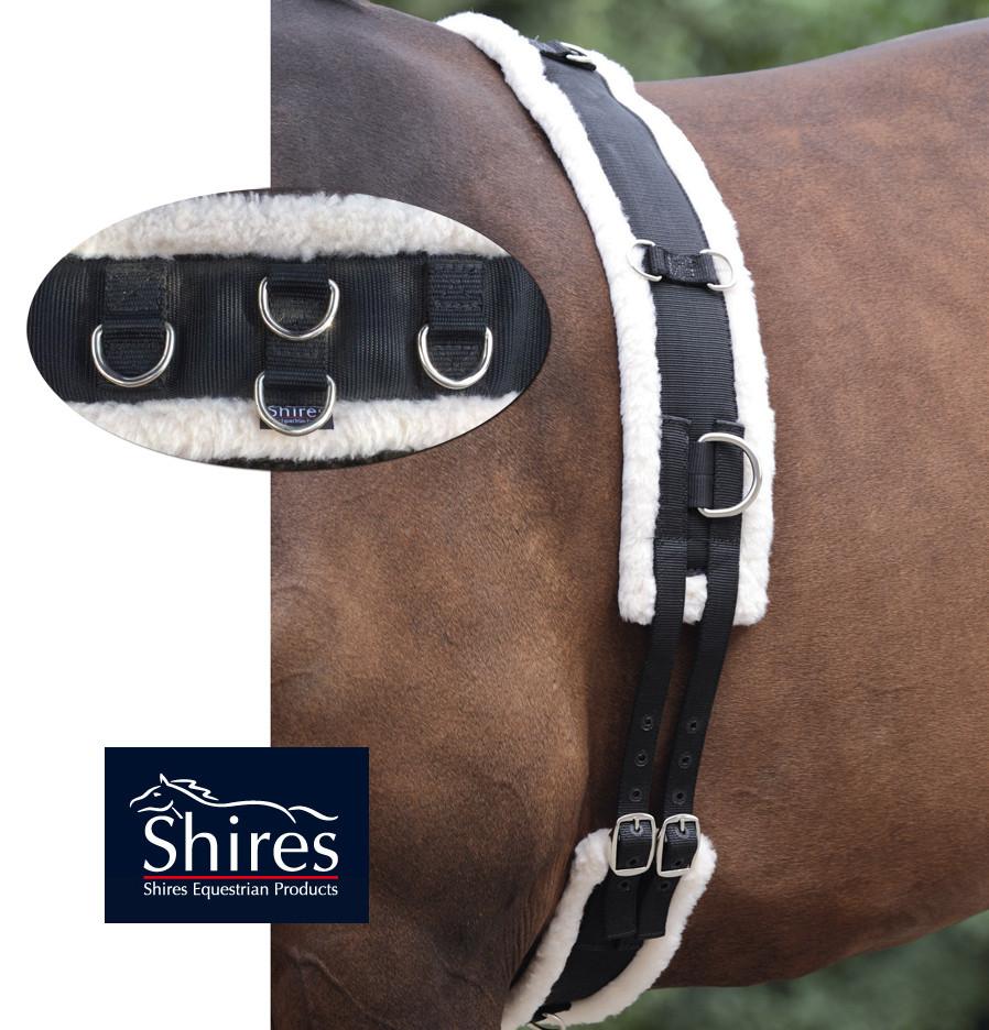 Shires Fleece Lined Training Surcingle Pony Amp Cob