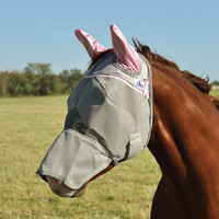 Pink Cashel Crusader Fly Mask, Long with Ears