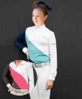 Kathryn Lily ProAir Color-Block Competition Shirt, XS Only