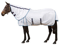 "Weatherbeeta Supa-Fly Sheet with Fly Repellent, White/Navy/Blue, 63"" & 66"" Only"