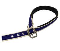 Horseware Amigo Dog Collar, Atlantic Blue/Ivory