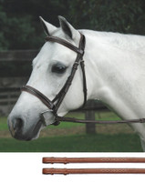 Bobby's Padded, CONTOUR Crown, Fancy Bridle with Fancy Reins
