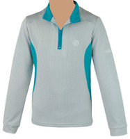 Kathryn Lily MeshAir Pullover, Light Gray/Teal, Sizes M & L Only