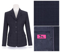 RJ Classics Prestige Navy Plaid Show Coat, Sizes 8 & 16 Only