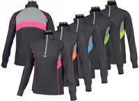 TuffRider Neon Ventilated Mock Zip, Kids Long Sleeve