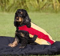 Horseware Rambo Deluxe Dog Blanket, Gold Witney Stripe