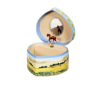 Love of Horses Musical Jewelry Box