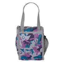 'Lila' Lunch Sack, Gray/ Blue/ Purple Camo