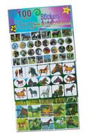 Horse Sticker Set, 100 piece