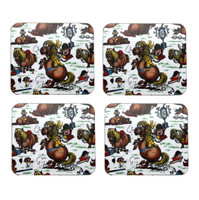 Thelwell Coasters, Set of 4