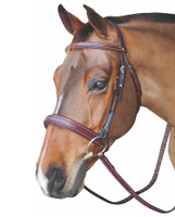HDR Mono Crown, Padded, Wide Noseband Bridle, Pony & Cob