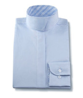 R J Classics Snap Collar Shirt, Light Blue with Blue Plaid, Sizes 6 - 16