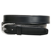 "Tory Black Stirrup Buckle Belt, 24"" - 32"""