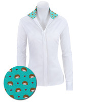 RJ Classics Prestige Spruce Jr Shirt - White with Hedgehogs, XS - XL
