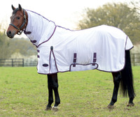 "Weatherbeeta ComFiTec Essential Combo Pony Fly Sheet, White/Purple, 57"" - 69"""
