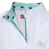 Kathryn Lily ProAir Long Sleeve White Shirt, White/Mr Fox
