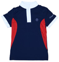 Kathryn Lily ProAir Polo Competition Shirt, Navy/Red/White